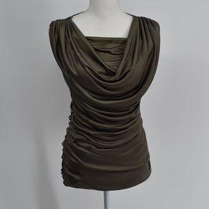 NWT Express Goddess Draping shrug blouse small